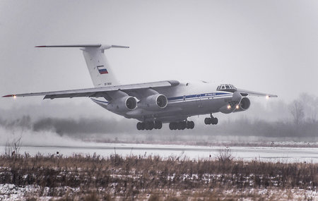 The third Il-76MD-90A rises into the sky