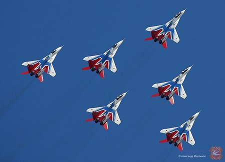 The 'Striji' (Swifts) aerobatic team celebrating its 25th Anniversary