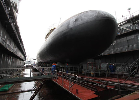 'Kolpino' diesel-powered submarine floated out in Saint-Petersburg